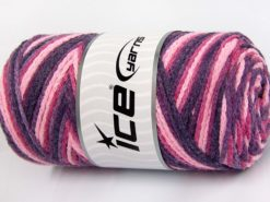 Lot of 2 x 200gr Skeins Ice Yarns SAVER CHAIN COLOR Yarn Maroon Pink Shades