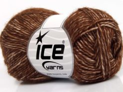 Lot of 8 Skeins Ice Yarns DENIM (80% Cotton) Hand Knitting Yarn Brown