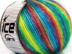 Lot of 8 Skeins Ice Yarns PICASSO Hand Knitting Yarn Rainbow