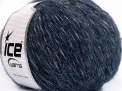 Lot of 4 x 100gr Skeins Ice Yarns ALPACA SHINE (19% Alpaca) Yarn Navy Silver