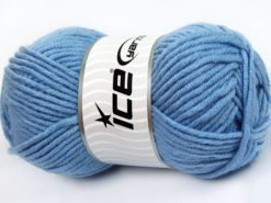 Lot of 4 x 100gr Skeins Ice Yarns MERINO CHUNKY (50% Merino Wool) Yarn Light Blue