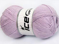 Lot of 4 x 100gr Skeins Ice Yarns LORENA (50% Cotton) Yarn Light Lilac