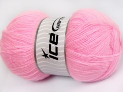 Lot of 4 x 100gr Skeins Ice Yarns KRISTAL Hand Knitting Yarn Baby Pink