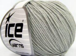 Lot of 8 Skeins Ice Yarns BABY MODAL (55% Modal) Hand Knitting Yarn Light Grey