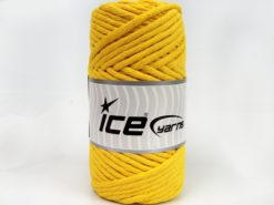 250 gr ICE YARNS NATURAL COTTON JUMBO (100% Cotton) Hand Knitting Yarn Yellow