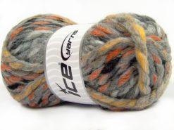 Lot of 4 x 100gr Skeins Ice Yarns ASTORIA (25% Wool) Yarn Grey Black White Camel Orange