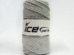250 gr ICE YARNS COTTON ROPE (100% Cotton) Hand Knitting Yarn Light Grey