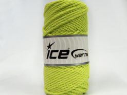 250 gr ICE YARNS COTTON ROPE (100% Cotton) Hand Knitting Yarn Light Green