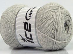 Lot of 4 x 100gr Skeins Ice Yarns NATURAL COTTON AIR (100% Cotton) Yarn Light Grey