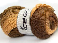 Lot of 4 x 100gr Skeins Ice Yarns SALE WINTER (50% Wool) Yarn Brown Shades Cream