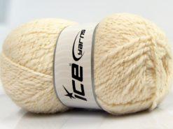 Lot of 4 x 100gr Skeins Ice Yarns BABY WOOL GLITZ (30% Wool) Yarn Ecru