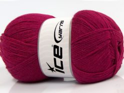 Lot of 4 x 100gr Skeins Ice Yarns WOOLRICH SOFTY FINE (65% Wool) Yarn Fuchsia