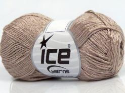 Lot of 8 Skeins Ice Yarns SUMMER FINE (67% Cotton 33% Viscose) Yarn Light Camel