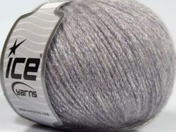 Lot of 8 Skeins Ice Yarns NIGHT STAR (17% Wool 7% Viscose) Yarn Light Grey Light Lilac Silver