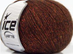 Lot of 8 Skeins Ice Yarns NIGHT STAR (17% Wool 7% Viscose) Yarn Copper