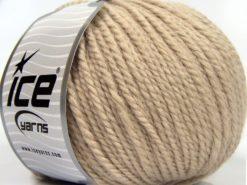 Lot of 3 x 100gr Skeins Ice Yarns PERUVIAN (25% Alpaca 25% Wool) Yarn Beige