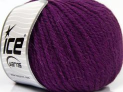 Lot of 3 x 100gr Skeins Ice Yarns PERUVIAN (25% Alpaca 25% Wool) Yarn Purple