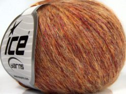 Lot of 8 Skeins Ice Yarns SALE WINTER (20% Wool 30% Cotton) Yarn Red Gold Shades