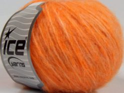 Lot of 8 Skeins Ice Yarns FLEECY WOOL (22% Wool) Yarn Light Orange