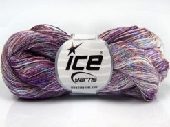 Lot of 3 x 100gr Skeins Ice Yarns SPRAY PAINT Hand Knitting Yarn Purple Shades