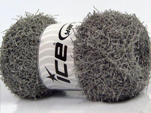 Lot of 4 x 100gr Skeins Ice Yarns SCRUBBER TWIST Hand Knitting Yarn Light Grey