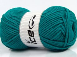 Lot of 4 x 100gr Skeins Ice Yarns MERINO CHUNKY (50% Merino Wool) Yarn Emerald Green