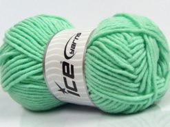 Lot of 4 x 100gr Skeins Ice Yarns MERINO CHUNKY (50% Merino Wool) Yarn Mint Green