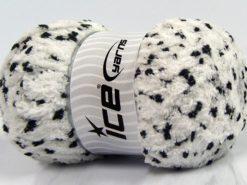 Lot of 4 x 100gr Skeins Ice Yarns PUFFY POMPOM (85% MicroFiber) Yarn White