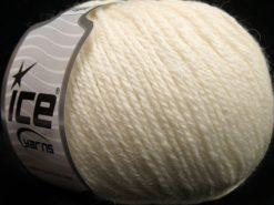 Lot of 8 Skeins Ice Yarns ALPACA LIGHT (18% Alpaca 20% Wool) Yarn Light Cream