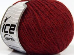 Lot of 8 Skeins Ice Yarns ALPACA LIGHT (18% Alpaca 20% Wool) Yarn Ruby Red