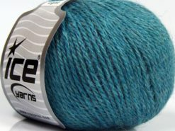 Lot of 8 Skeins Ice Yarns ALPACA LIGHT (18% Alpaca 20% Wool) Yarn Light Turquoise