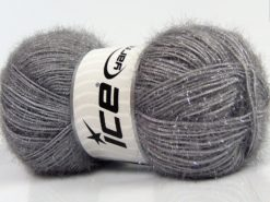 Lot of 4 x 100gr Skeins Ice Yarns SPARKLE Hand Knitting Yarn Grey