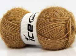 Lot of 4 x 100gr Skeins Ice Yarns SPARKLE Hand Knitting Yarn Caramel