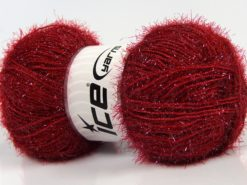 Lot of 4 x 100gr Skeins Ice Yarns SPARKLE Hand Knitting Yarn Ruby Red