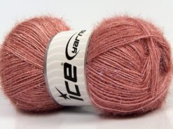 Lot of 4 x 100gr Skeins Ice Yarns SPARKLE Hand Knitting Yarn Antique Pink