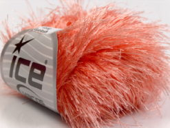 Lot of 8 Skeins Ice Yarns LONG EYELASH Hand Knitting Yarn Light Salmon