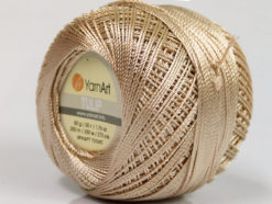 Lot of 6 Skeins YarnArt TULIP (100% MicroFiber) Hand Knitting Yarn Beige