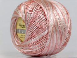 Lot of 6 Skeins YarnArt TULIP (100% MicroFiber) Yarn Light Orange White