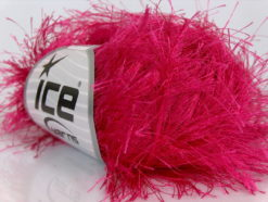 Lot of 8 Skeins Ice Yarns LONG EYELASH Hand Knitting Yarn Gipsy Pink