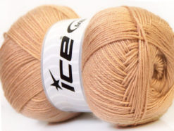 Lot of 4 x 100gr Skeins Ice Yarns MERINO GOLD (60% Merino Wool) Yarn Light Brown