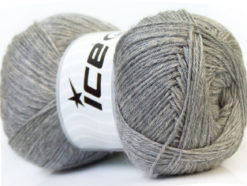 Lot of 4 x 100gr Skeins Ice Yarns MERINO GOLD (60% Merino Wool) Yarn Silver