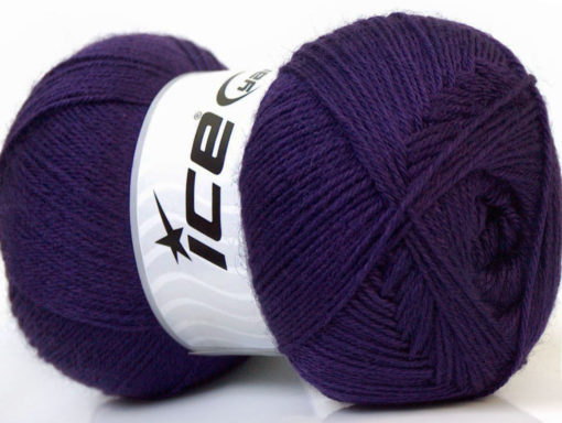 Lot of 4 x 100gr Skeins Ice Yarns MERINO GOLD (60% Merino Wool) Yarn Purple
