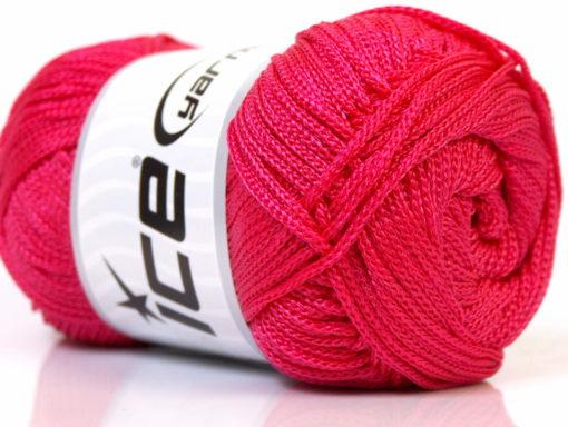 Lot of 4 x 100gr Skeins Ice Yarns MACRAME CORD Hand Knitting Yarn Pink