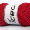 Lot of 4 x 100gr Skeins Ice Yarns MACRAME CORD Hand Knitting Yarn Red