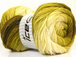 Lot of 4 x 100gr Skeins Ice Yarns MAGIC LIGHT Yarn Green Shades White