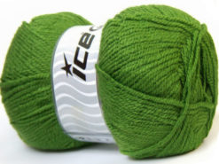 Lot of 4 x 100gr Skeins Ice Yarns GONCA Hand Knitting Yarn Green