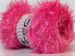 Lot of 4 x 100gr Skeins Ice Yarns EYELASH 100GR Hand Knitting Yarn Candy Pink
