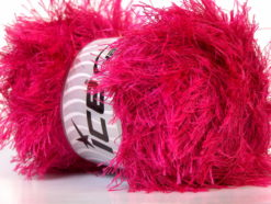 Lot of 4 x 100gr Skeins Ice Yarns EYELASH 100GR Hand Knitting Yarn Fuchsia