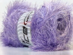 Lot of 4 x 100gr Skeins Ice Yarns EYELASH 100GR Hand Knitting Yarn Light Lilac