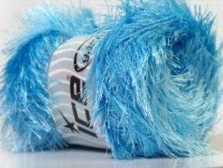 Lot of 4 x 100gr Skeins Ice Yarns EYELASH 100GR Hand Knitting Yarn Light Blue